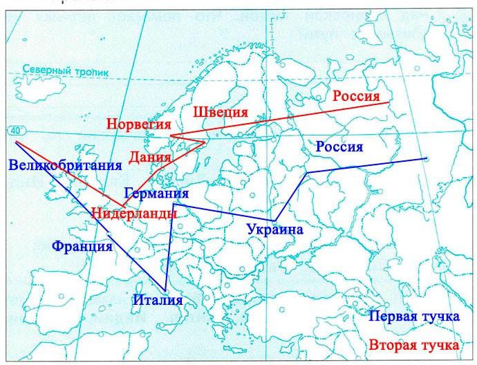§ 27. Путешествие тучки по Европе - Вахрушев 2 класс. Рабочая тетрадь